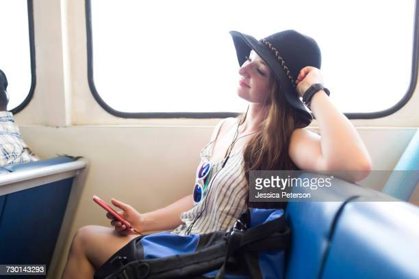 Woman travelling alone