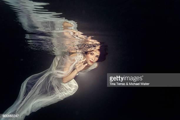 Woman underwater