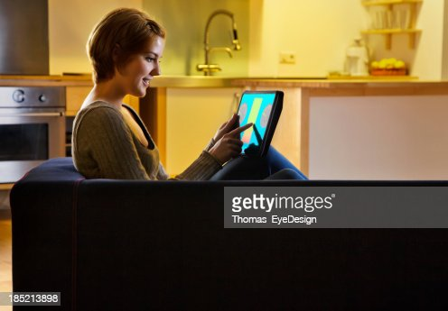 Woman using a Smart Energy Controller
