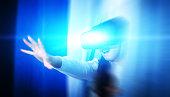 Woman Using Virtual Reality Headset
