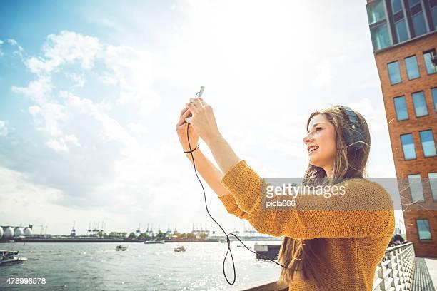 Femme videochats extérieure