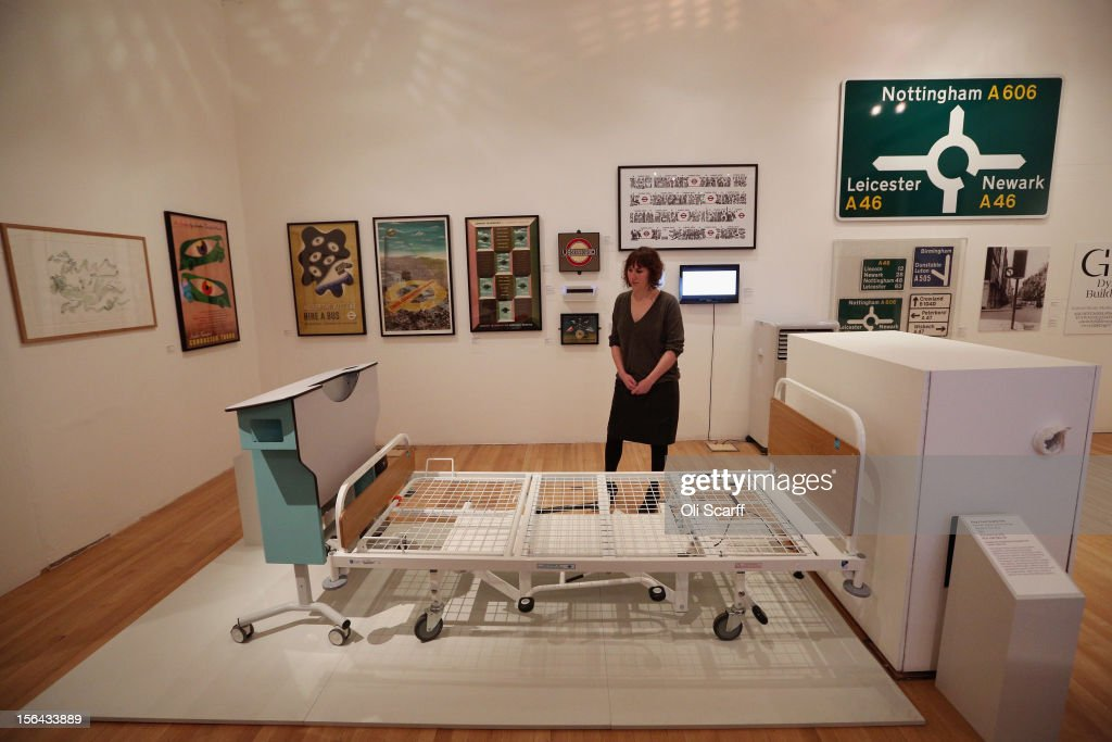 A woman views Kenneth Agnew's 'Prototype Kings' Fund Bed' in the 'Perfect Place to Grow' exhibition at The Royal College of Art in celebration of their 175th anniversary on November 15, 2012 in London, England. The Royal College of Art's major exhibition, 'The Perfect Place to Grow', features over 350 works of art and design by RCA graduates and staff including: Henry Moore, Tracey Emin and David Hockney. The RCA is the world's oldest art and design university in continuous operation and it currently educates 1,200 postgraduate students from 55 different countries.