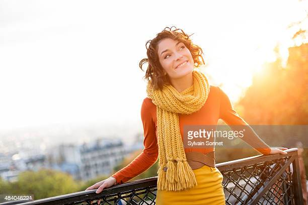 Woman visiting Montmartre, Paris