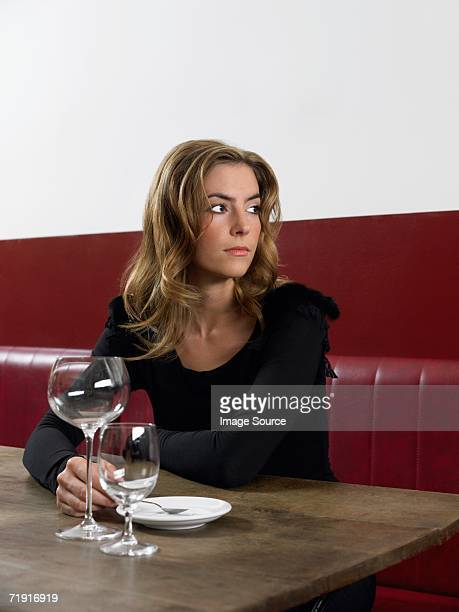 Woman waiting for date to arrive