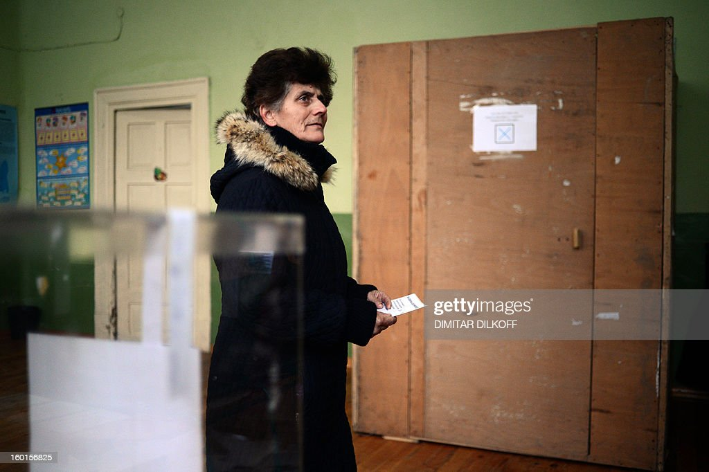 A woman waits to cast her vote at a polling station during the national referendum in the town of Belene on January 27, 2013. Bulgarians voted Sunday on whether to revive plans ditched by the government to construct a second nuclear power plant, in the EU member's first referendum since communism. The referendum asks 6.9 million eligible voters: 'Should Bulgaria develop nuclear energy by constructing a new nuclear power plant?'