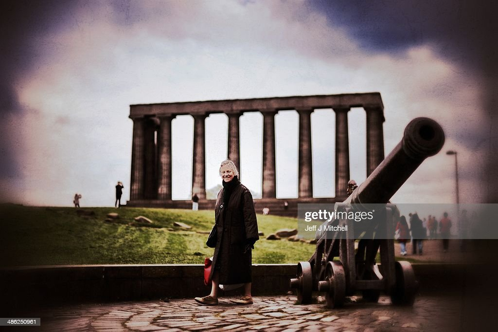 A woman walks past the Portuguese Canon on Calton Hill on April 23, 2014 in Edinburgh, Scotland. A referendum on whether Scotland should be an independent country will take place on September 18, 2014.