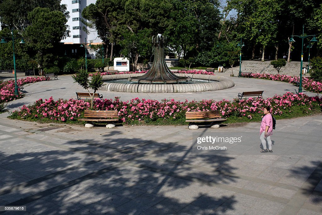 A woman walks through Gezi Park on the eve of the 3rd anniversary of the Gezi Park protests on May 30, 2016 in Istanbul, Turkey. The protests began on May 28, 2013 to contest the planned urban development of Gezi Park however larger protests started after police evicted protesters from the park sparking weeks of civil unrest.