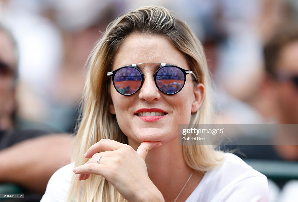 A woman watches the match between Rafael Nadal of Spain and Dominic Thiem of Austria as part of ATP Argentina Open at Buenos Aires Lawn Tennis Club on February 13, 2016 in Buenos Aires, Argentina.