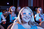 Woman Watching 3-D Movie