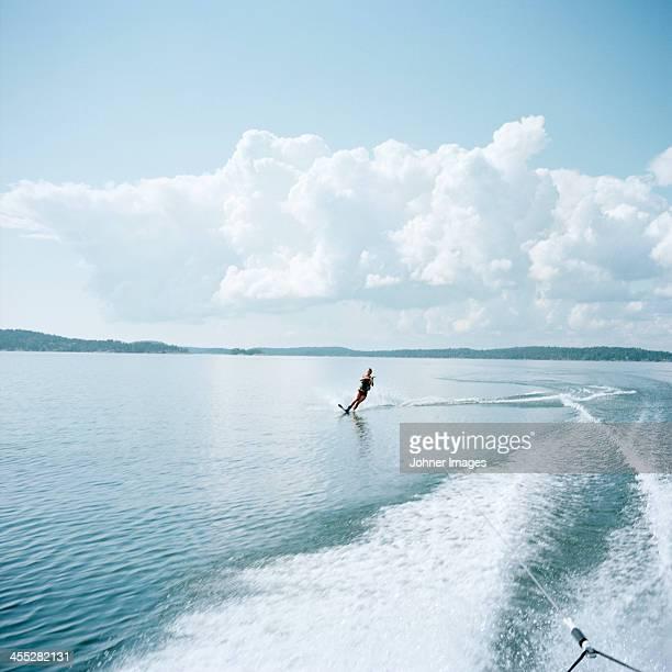 Woman water-skiing