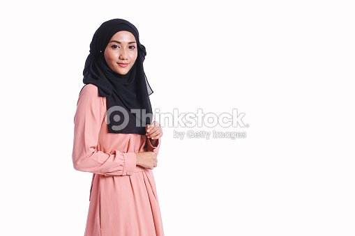 49542ff290 Woman wear a beautiful dress show hand sign isolated on white background -  beauty