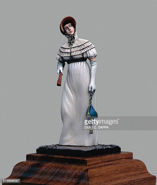 Woman wearing a ball gown from the First French Empire 54 cm toy soldier from the Napoleonic era made by Pier Sergio Allevi painted by Daniel Ipperti...
