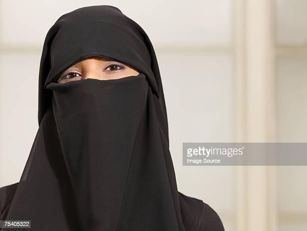 Woman wearing a burkha
