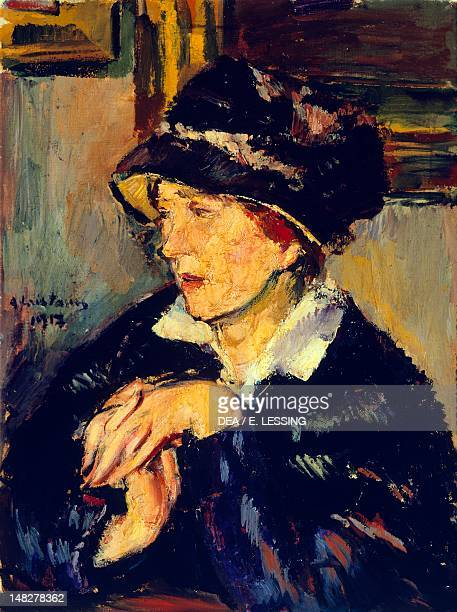 Woman wearing a dark hat by Anton Faistauer oil on canvas 66x50 cm