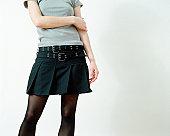 Woman wearing a skirt