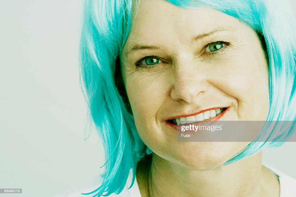 Photo Wearing Wig Woman