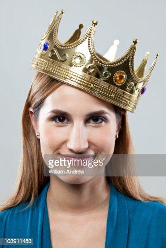Woman wearing crown