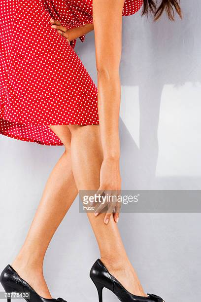 Woman Wearing Dress and High Heels