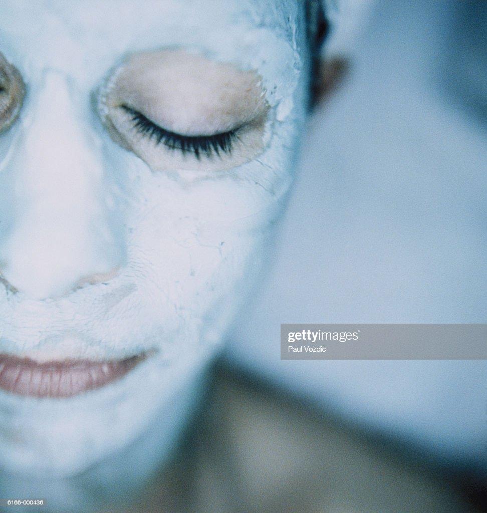 Woman Wearing Face Mask : Stock Photo