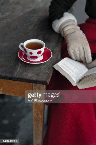 Woman wearing gloves