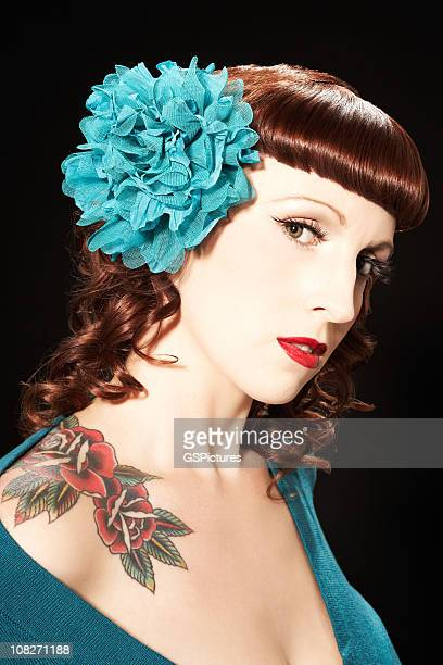 Woman Wearing Hair Ornament