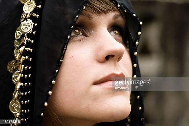 Woman Wearing Head Covering