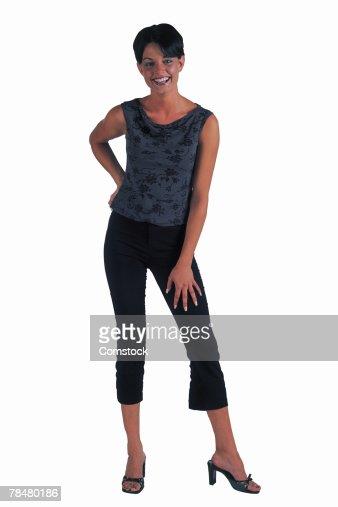 Woman wearing heels : Stock Photo