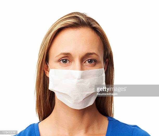 Woman Wearing Medical Face Mask - Isolated