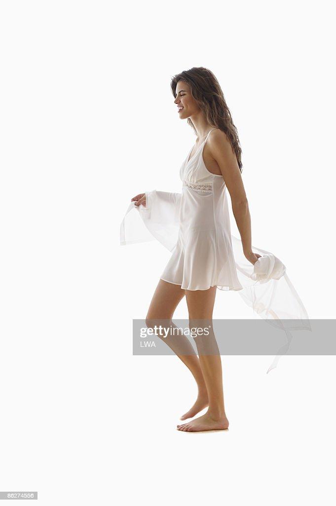 Woman Wearing Negligee