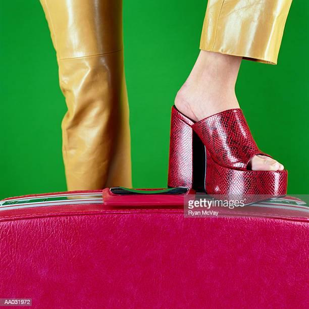 Woman Wearing Platform Shoes