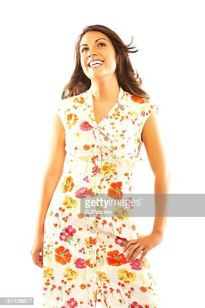 Frau mit Sommerkleid