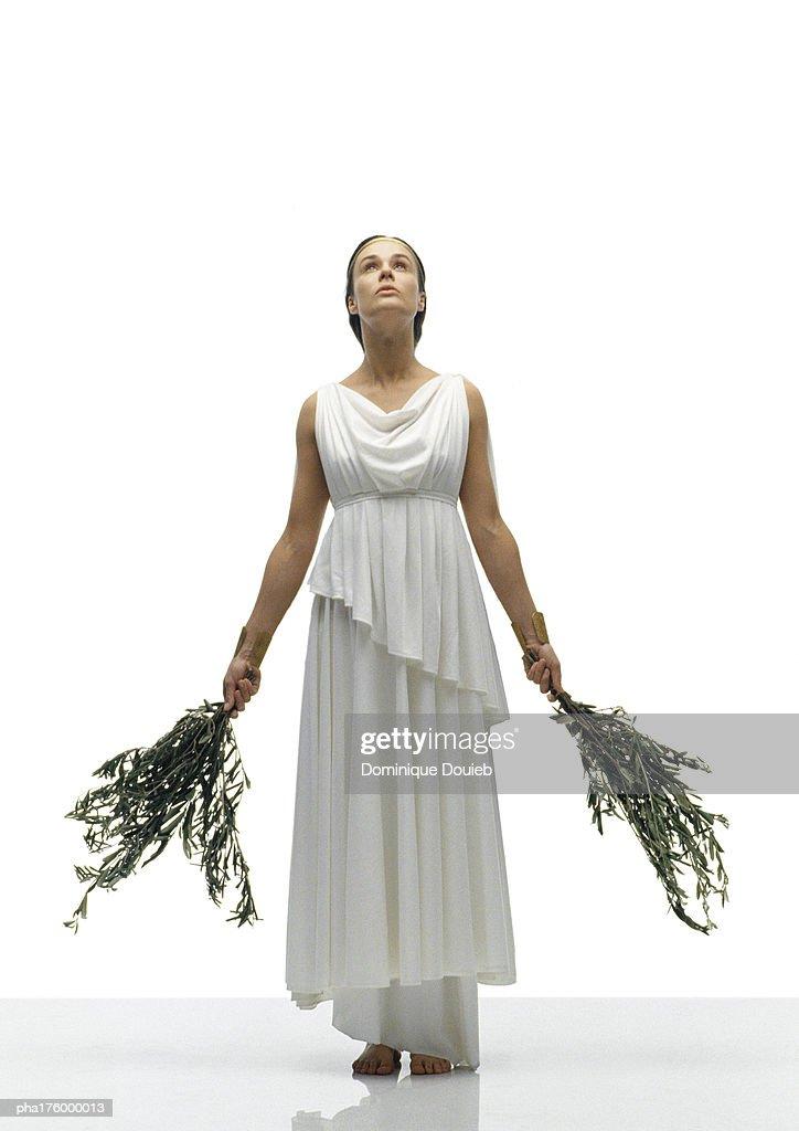 Woman wearing toga
