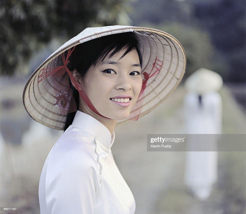 woman wearing traditional dress.