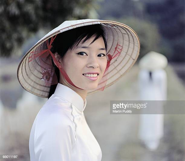 woman wearing traditional dress.