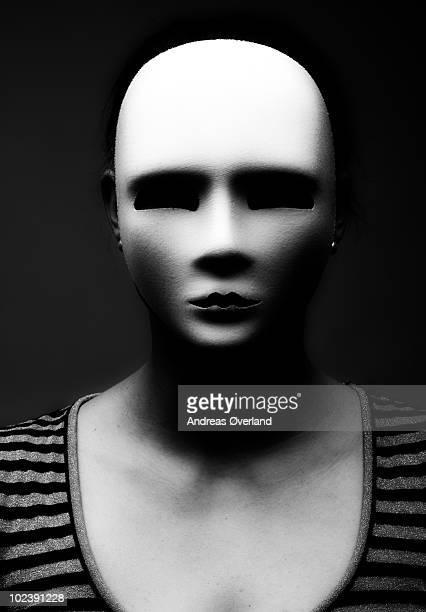 Woman wearing white mask