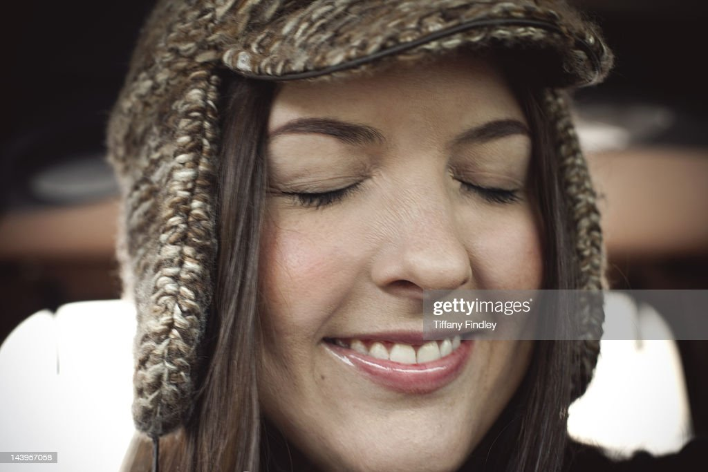 Woman wearing with hat : Stock Photo