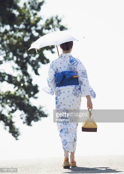 Woman wearing Yukata
