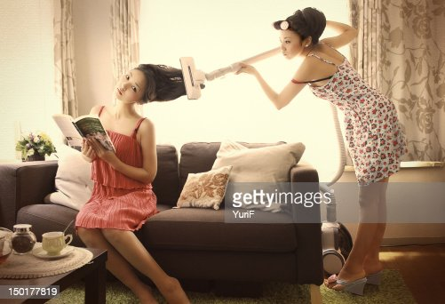 Woman who is cleaning house. : Stock Photo