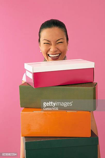 Woman Who Loves to Shop for Shoes