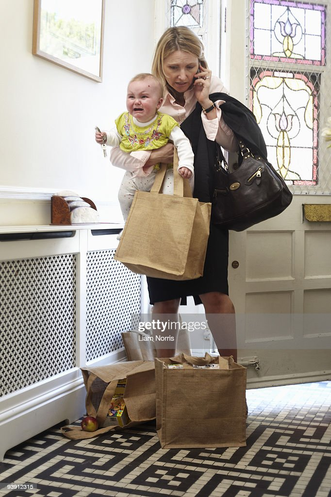 woman with a baby : Stock Photo