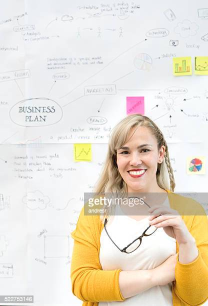 Woman with a business plan