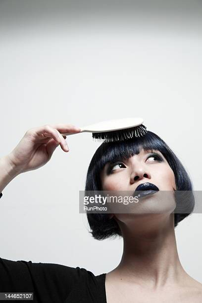 woman with a comb