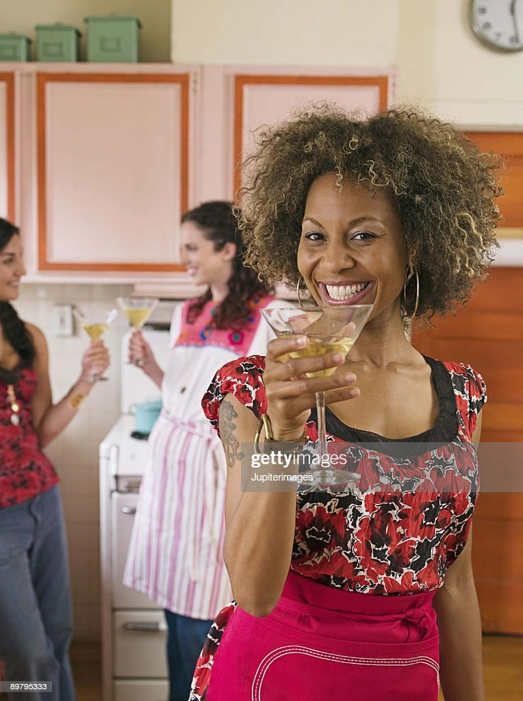 Woman with a drink : Stock Photo