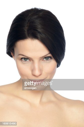 woman with a facial expression