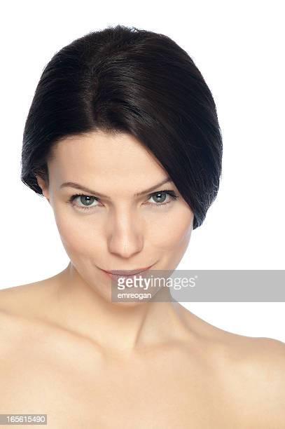 Frau mit Gesichtsausdruck