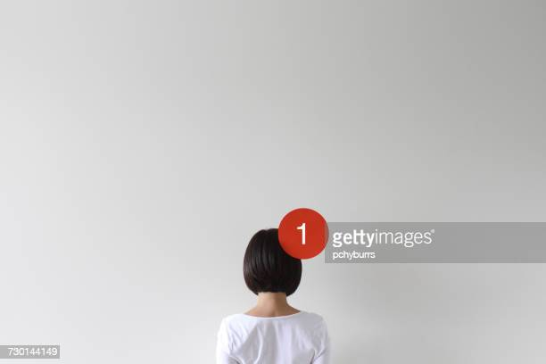 Woman with a notification icon