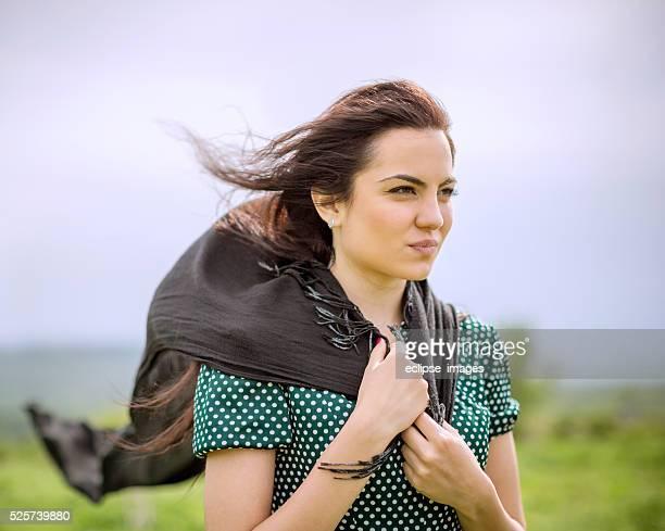 Frau mit einen Schal
