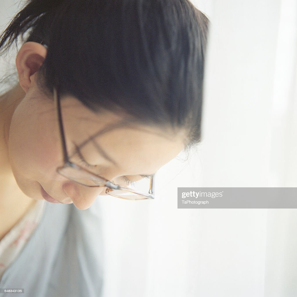 Woman with a soft face