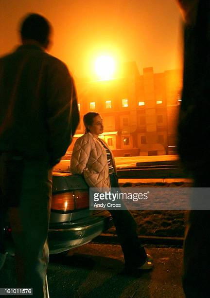 COJANUARY 11TH 2005A woman with a street name 'Desire' from Kansas rests up against an undercover police car after being arrested for solicitation...