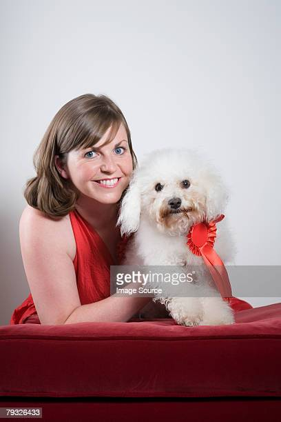 Woman with a winning dog